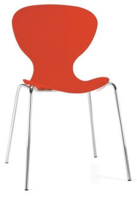 Piazza Polypropylene General Purpose Chair In Orange