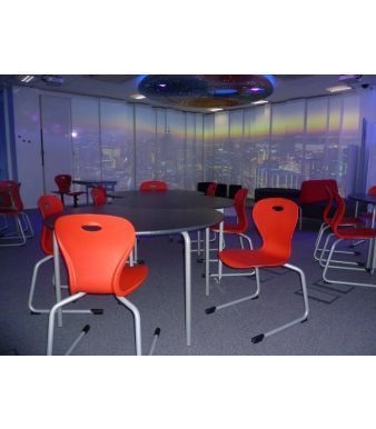 Solar Rear Cantilever General Purpose Chair In A Dining Room All Red