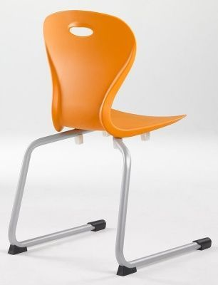 Solar Rear Cantilever General Purpose Chair In Orange From Behind
