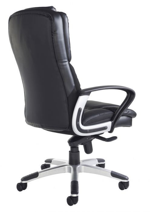 ... Back Black Leather High Back Swivel Chair ...
