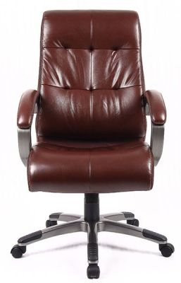 Hover To Zoom; Brown Leather Executive Chair Swivel
