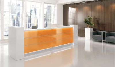 Valde Straight Orange Reception Desk