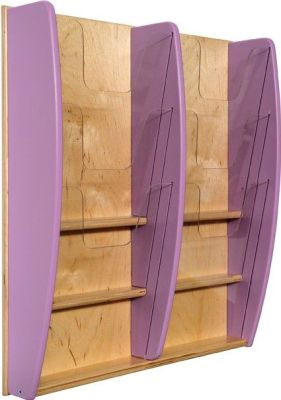 Colourway Wall Mounted Leaflet Dispenser Lilac Sides