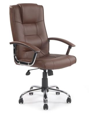 Raffles Brown Leather Executive Chair