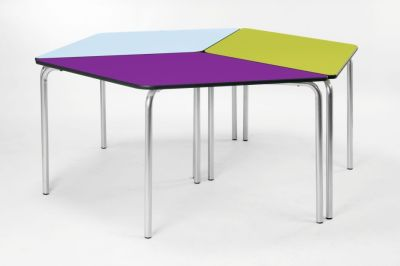 Hover To Zoom; Diamond Modular Calssroom Table In A Configuration Of Three