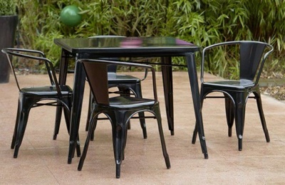 Hover To Zoom; Tollix Outdoor Dining Set 6 In Black