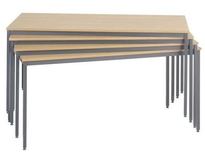 Flexi Rectangular Value Tables In Beech With Steel Graphite Coloured Legs