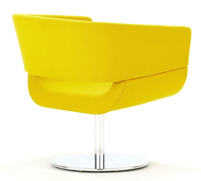 Designer Tub Chair with a Circular Base - Lola - band 1 upholstery ...