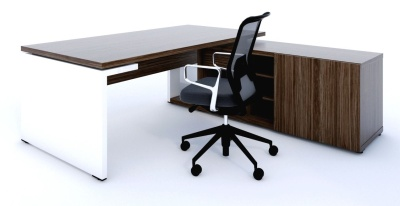 Mito Executive Desk and Supporting Credenza