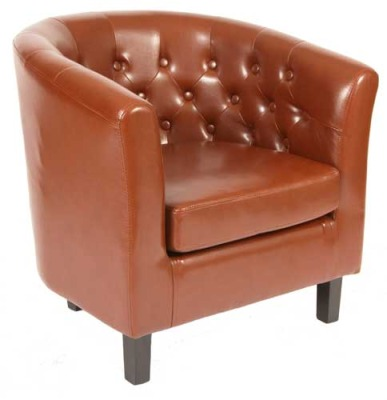 Beau Dumfries Leather Tub Chairs
