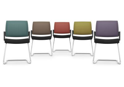 KND Mesh Back Cantilver Chairs