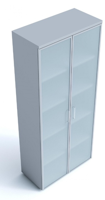 An image of Kompass Cupboards with Frosted  Glass doors - 865mm high 1 shelf