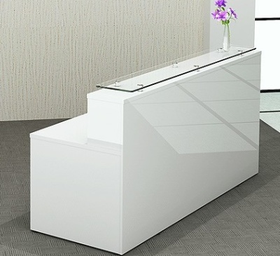 Polar Gloss White Recpetion Desk