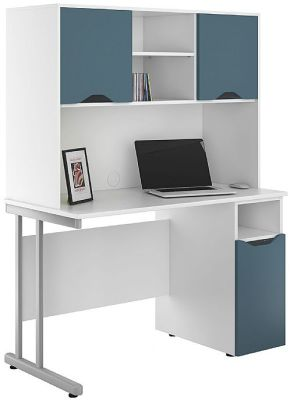 UCLIC Kaleidoscope Desks with Overhead and Desk Cupboard