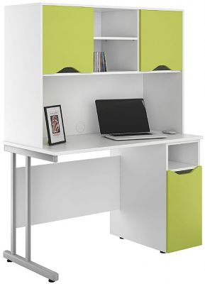UCLIC Desk With Cupboard Doors In Lime