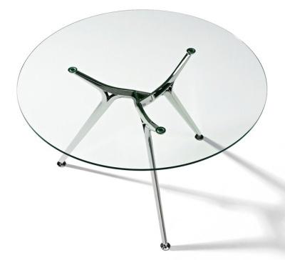 Arkitek Round Clear Glass Boardroom Table