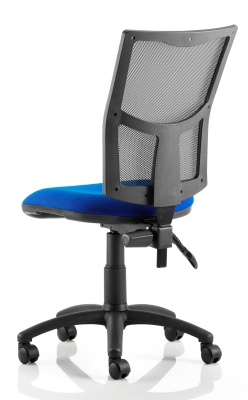 Twilight Mesh Chair Blue Seat Rear Angle