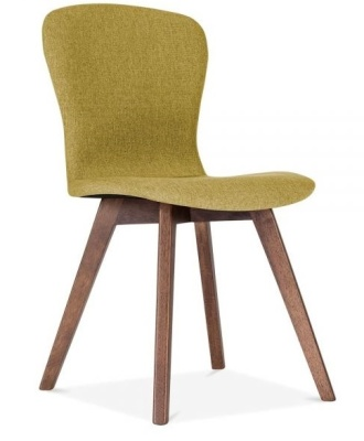 Detroit Dining Chair Front Angle Olive Green Fabric