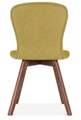 Detroit Dining Chair Olive Green Fabric Rear Shot