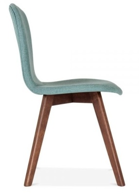 Detroit Dining Chair Teal Fabric Side View