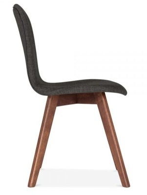 Detroit Dining Chairs Darjk Grey Fabric Side View