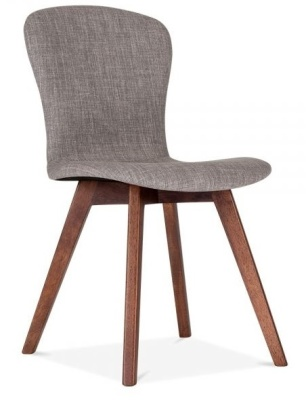 Detroit Dining Chairs Gret Fabric Front Angle