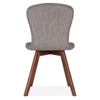 Detroit Dining Chair Grey Fabric Rear View