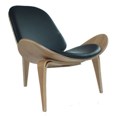 hans j wegner shell chair black leather online reality
