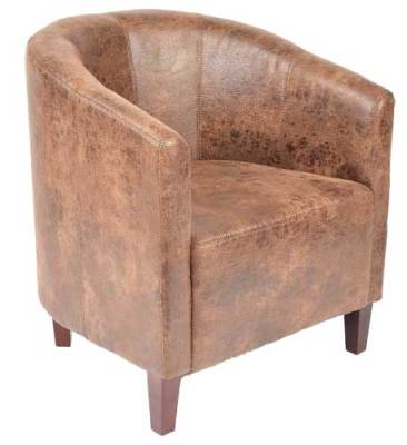 Charmant Chigwell Vintage Faux Leather Tub Chair