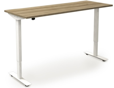 Avalon Electrical Sit Stand Rectangular Desks - 600mm Deep