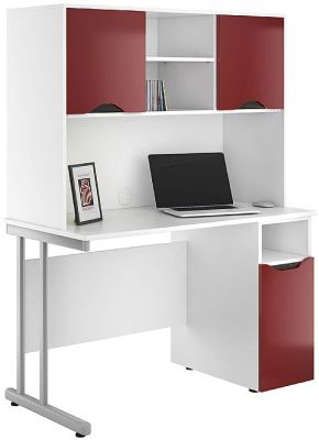 UCLIC Create Refelctions Desk With High Gloss Red Fronts