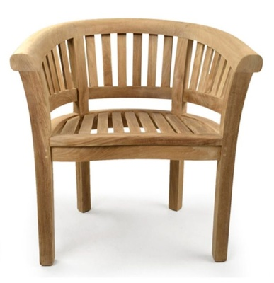 Oxford Teak Armchair Front Shot