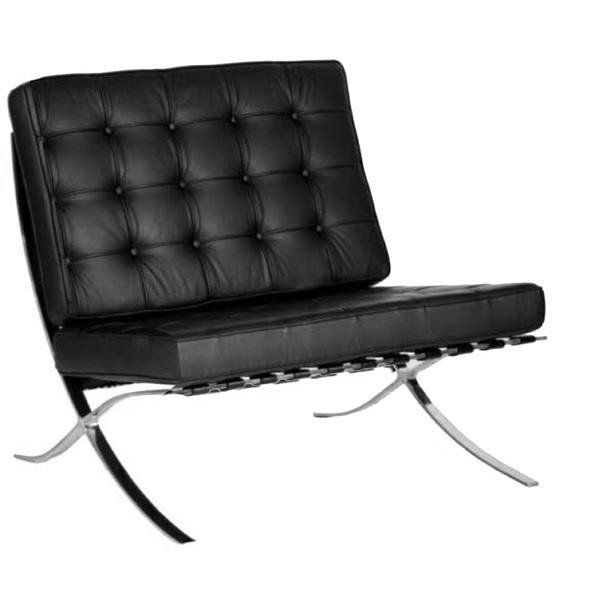 An image of Barcelona Black Single Sofas Special Offer