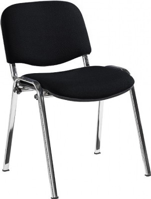 Stakka Conference Chair Black Fabfric Chrome Frame