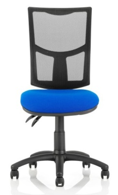 Twilight V2 Mesh Task Chair With A Blue Fabric Seatv