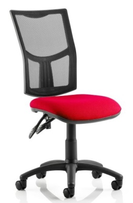 Twilight V2 Operators Chair With A Red Fabric Seat