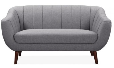 Attirant Blake Two Seater Sofa Smoke Grey Upholstery Front V Iew