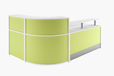 Spectrum Reception Desk With Lime Green Fronts
