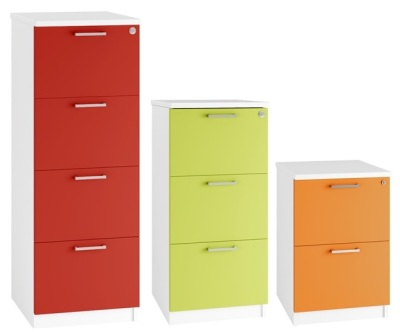 Spectrum Coloured Wooden Filing Cabinets