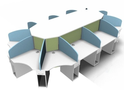 Corex Twelve Person Call Centrfe Cluster Desk