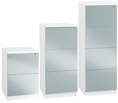 Spectrum Next Day Filing Cabinets With Blue Metallic Fronts