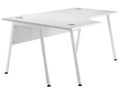 Spectrum Plus Left Hand Corner Desks With A White Top And White Frame