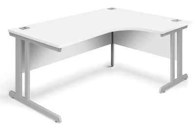 Trapido Right Hand Corner Desk In White