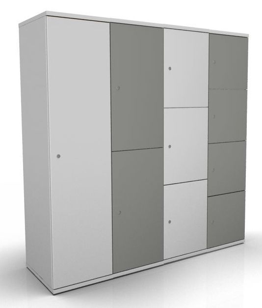 Wooden personal lockers avalon single door online for Wood lockers with doors