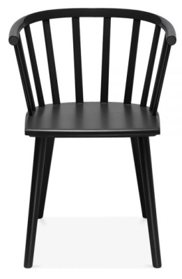 hover to zoom busk wooden dining chair in black front view