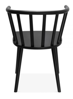 wooden chair. Hover To Zoom; Busk Wooden Chair In Black Rear View
