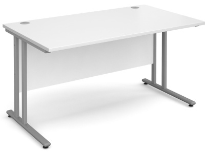 Momento Next Day White Rectangular Desk