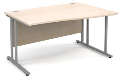 Momrntum Right Hand Wave Desk With A Maple Top