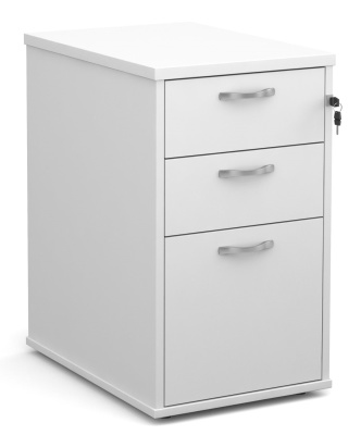Momentum Desk Height Pedestal Drawers In White