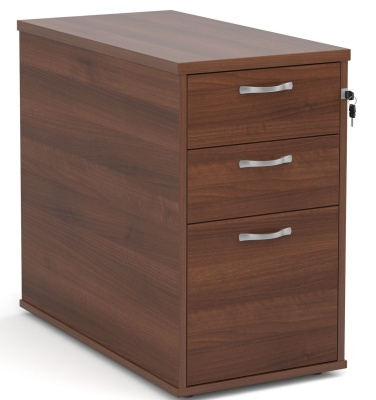Monemtum 800mm Deep Desk Height Pedestal Drawers In Walnut